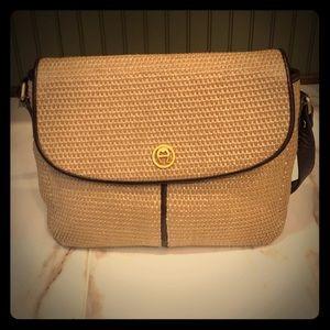 Etienne Aigner Straw Crossbody Bag